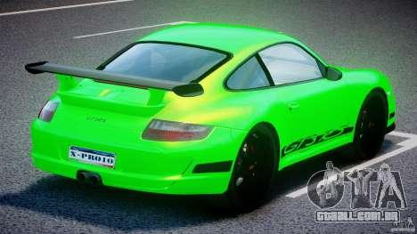 Porsche 997 GT3 RS para GTA 4 vista superior