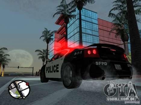 Dodge Charger Police para GTA San Andreas esquerda vista