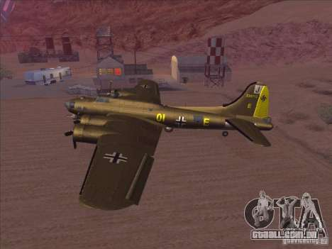 B-17G Flying Fortress para GTA San Andreas traseira esquerda vista