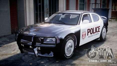 Dodge Charger SRT8 Police Cruiser para GTA 4 esquerda vista