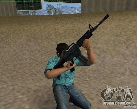 M4 de Counter Strike Source para GTA Vice City terceira tela