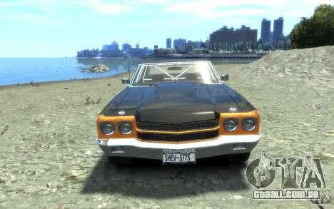 Chevrolet Chevelle SS 1970 para GTA 4 vista interior