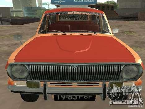 GAZ-24 Volga AEROFLOT 02 para GTA San Andreas vista traseira