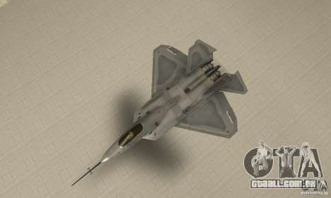 YF-22 Grey para GTA San Andreas vista direita