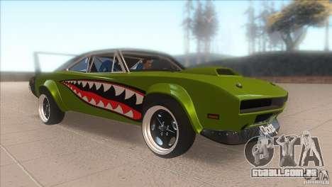 Dodge Charger RT SharkWide para GTA San Andreas vista traseira
