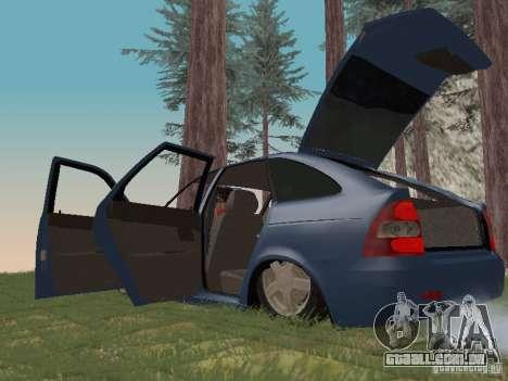 LADA 2170 Hatchback para GTA San Andreas vista interior