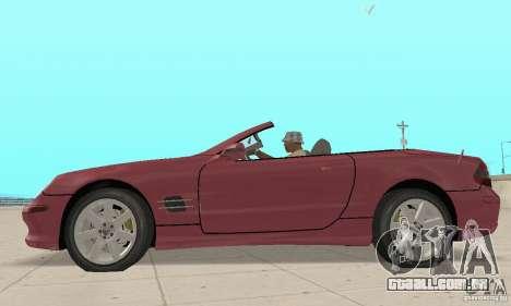 Mercedes-Benz SL500 (R230) para GTA San Andreas traseira esquerda vista