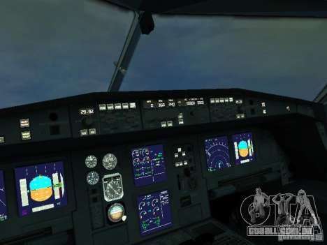 Airbus A340-300 Air France para GTA San Andreas vista interior