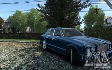 Bentley Arnage T para GTA 4 vista direita