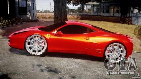 Ferrari 458 Italia Dub Edition para GTA 4 vista interior
