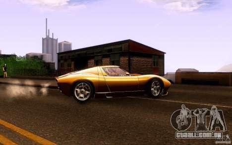 Lamborghini Miura Concept para GTA San Andreas vista direita