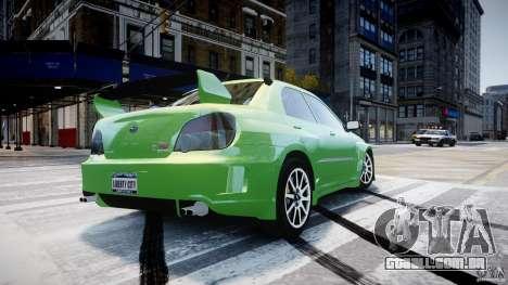 Subaru Impreza STI Wide Body para GTA 4 vista superior