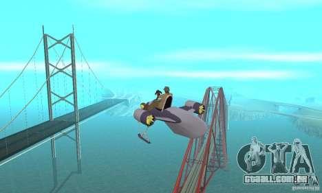 Flying Fish para GTA San Andreas vista interior