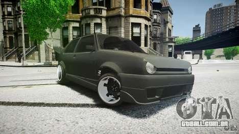 Volkswagen Golf 2 Low is a Life Style para GTA 4 traseira esquerda vista