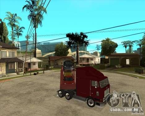 Caminhão semi-reboque para GTA San Andreas vista inferior
