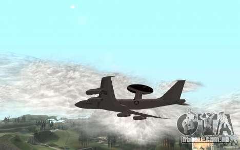 Boeing E-3 Sentry para GTA San Andreas traseira esquerda vista