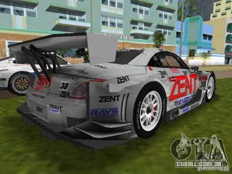 Lexus SC430 GT para GTA Vice City vista traseira esquerda