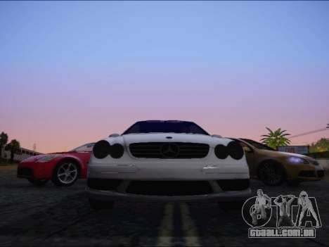 Mercedes-Benz CLK para GTA San Andreas vista traseira