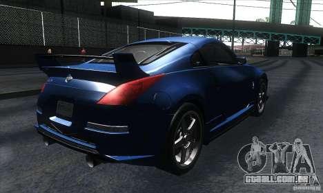 Nissan 350Z Varis para GTA San Andreas vista direita