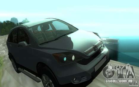 Honda CR-V para vista lateral GTA San Andreas