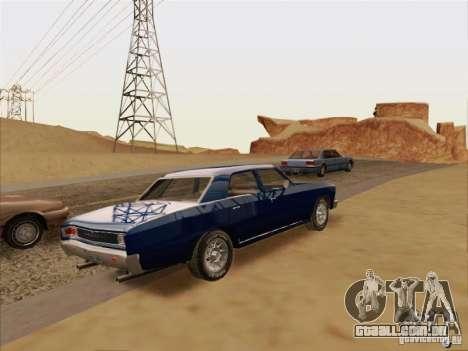 Chevrolet Chevelle para GTA San Andreas vista traseira
