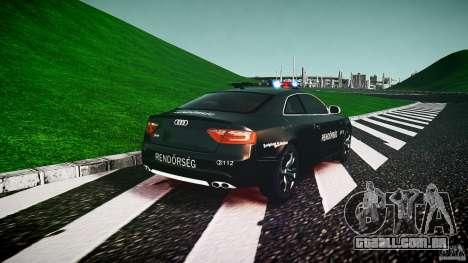 Audi S5 Hungarian Police Car black body para GTA 4 traseira esquerda vista