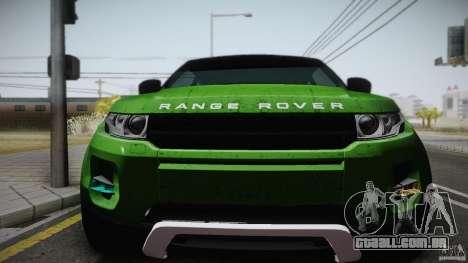 Land Rover Range Rover Evoque v1.0 2012 para GTA San Andreas vista direita