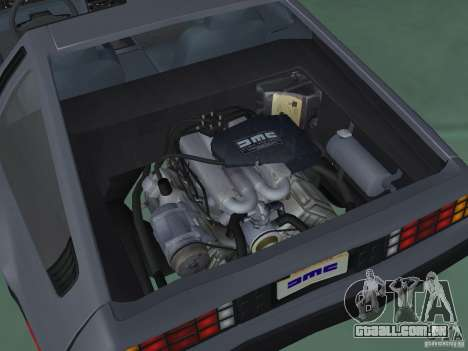 DeLorean DMC-12 para GTA San Andreas vista traseira