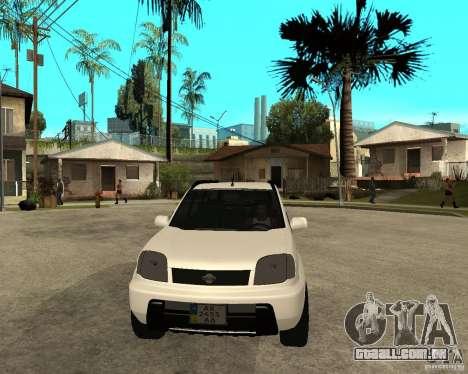 NISSAN X-TRAIL 2001 para GTA San Andreas vista traseira