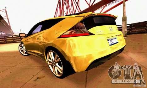 Honda CR-Z 2010 V2.0 para GTA San Andreas interior