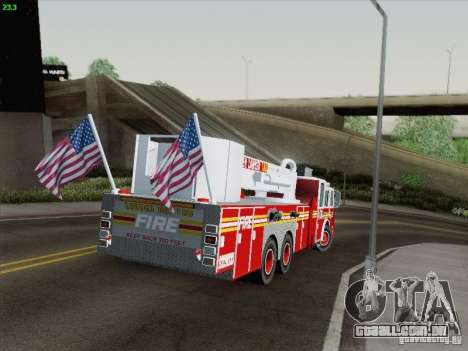 Seagrave Marauder. F.D.N.Y. Tower Ladder 186 para GTA San Andreas vista inferior