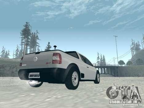 Volkswagen Saveiro 1.6 2009 para GTA San Andreas esquerda vista