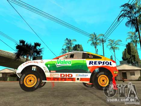 Mitsubishi Racing Lancer from DIRT 2 para GTA San Andreas esquerda vista