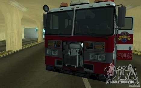 FIRETRUCK para GTA San Andreas vista traseira