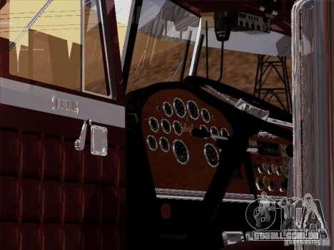 Peterbilt 359 Custom para GTA San Andreas vista interior