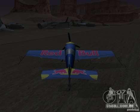 Extra 300L Red Bull para GTA San Andreas vista traseira