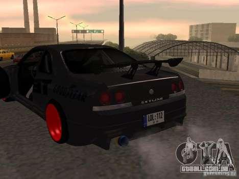 Nissan Skyline R33 para vista lateral GTA San Andreas