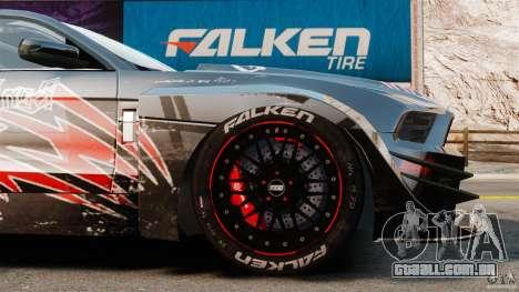 Ford Mustang 2010 GT1 para GTA 4 vista lateral