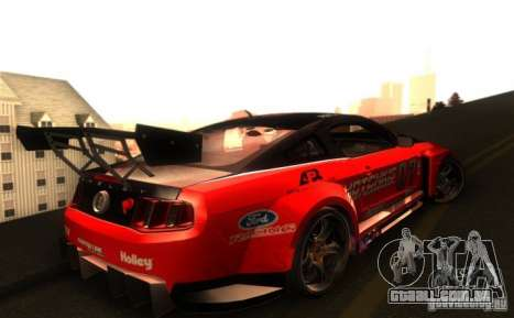 Ford Mustang Shelby GT500 V1.0 para GTA San Andreas vista interior