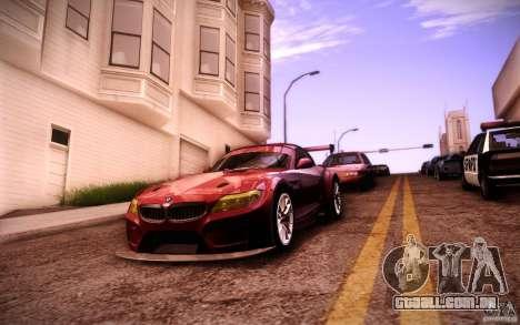 BMW Z4 E89 GT3 2010 para GTA San Andreas vista superior