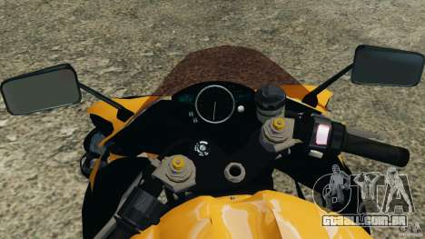 Yamaha YZF-R1 2012 para GTA 4 vista de volta