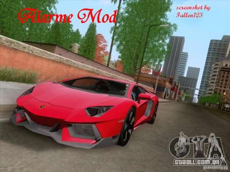 Alarme Mod v3.0 para GTA San Andreas