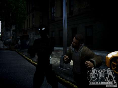 Spider Man Black Suit para GTA 4 terceira tela