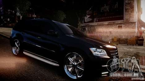 Mercedes-Benz GL450 Brabus Black Edition para GTA 4 vista de volta