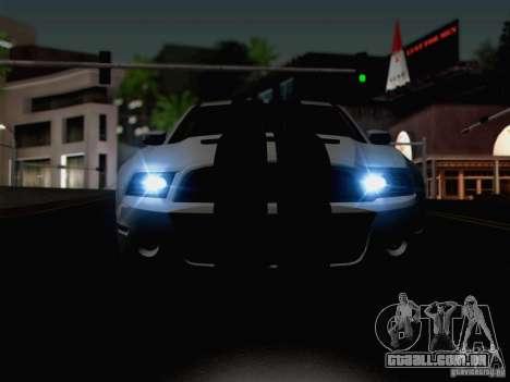 New Car Lights Effect para GTA San Andreas sexta tela