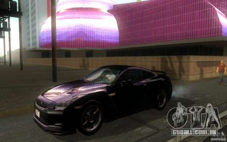 Nissan GTR R35 Spec-V 2010 para GTA San Andreas esquerda vista