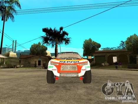 Mitsubishi Racing Lancer from DIRT 2 para GTA San Andreas vista direita