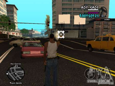 HUD by Hot Shot v.2.2 for SAMP para GTA San Andreas terceira tela