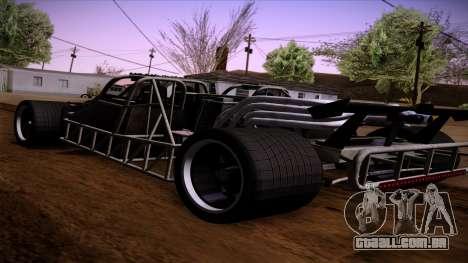 Virar para fora do carro de Furious 6 para GTA San Andreas esquerda vista
