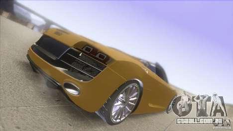 Audi R8 5.2 FSI Spider para GTA San Andreas vista direita